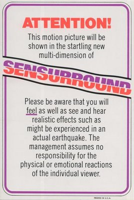 Earthquake Sensurround